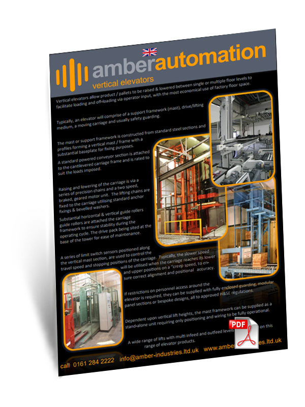Amber Automation Elevators & Lowerators