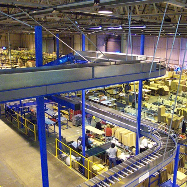 Amber Automation high level Lineshaft conveyor