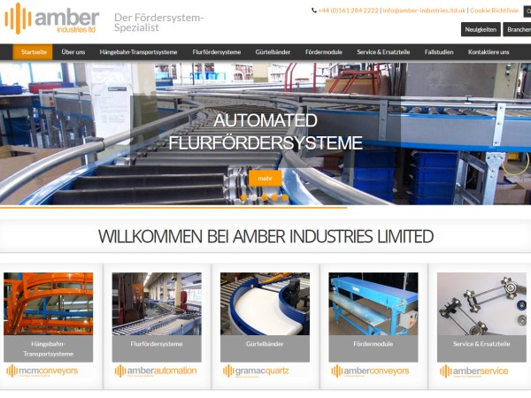 New Amber Industries Website Launched In German
