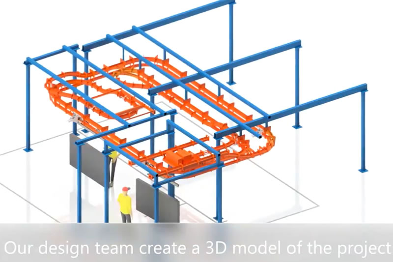 Composite Manufacturing Overhead Conveyor Design To Installation