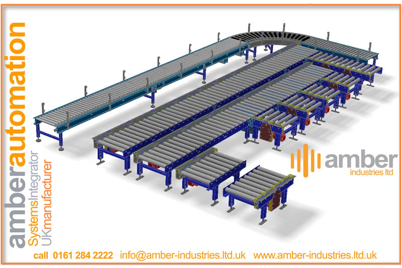 Drum Transferring System, incorporating Lineshaft and Powered Roller Conveyor