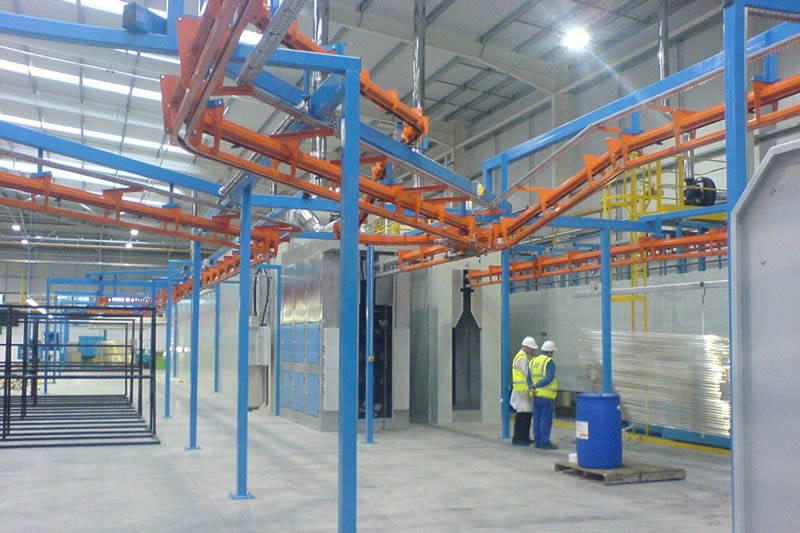 MCM Autotrack Power & Free Overhead Conveyor System Completed