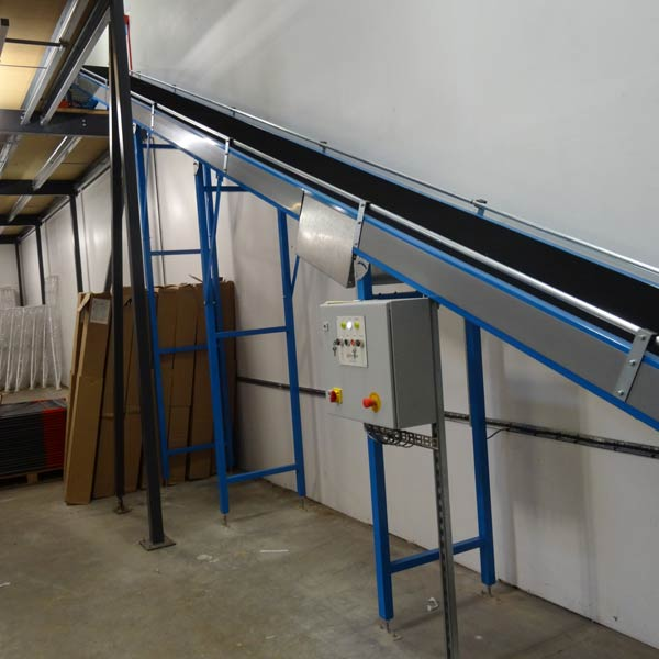 Mezzanine Floor Elevation : Work packing table modules conveyor