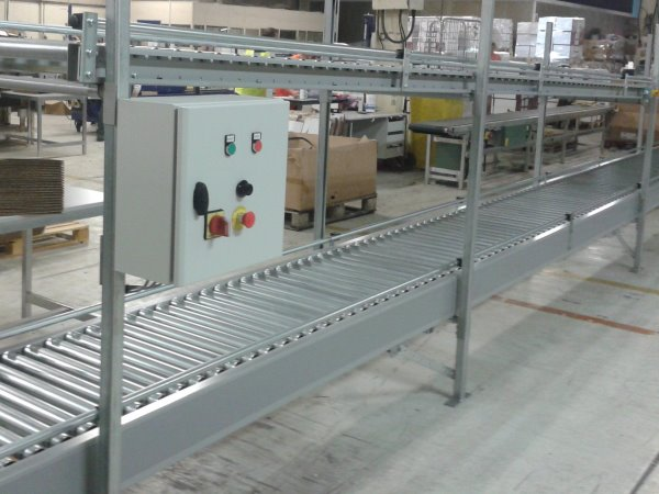 Two Tier Lineshaft & Gravity Roller Conveyors Installed